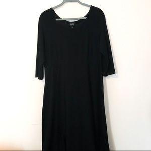 Eileen Fisher maxi black dress